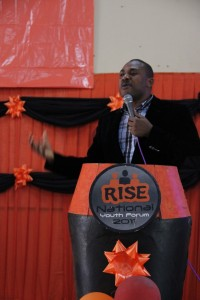 Bayo Adekanmbi addressing the participants
