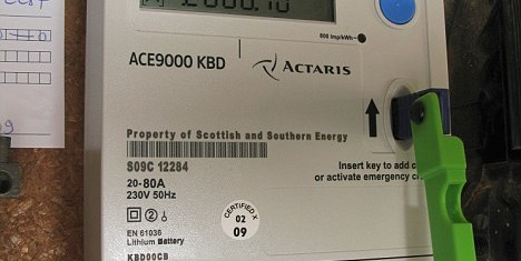 quantum key prepayment electric meter, paying for electricity as you use it