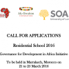 Apply for the Governance for Development in Africa Initiative Residential School 2016 Marrakech, Morocco (Fully Funded)