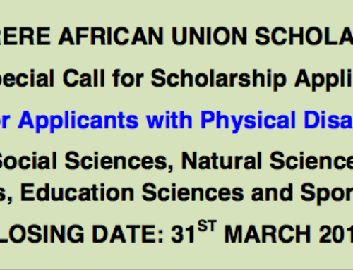 Mwalimu Nyerere African Union Masters & PhD Programmes in STEM Scholarship Scheme 2018/2019 (Fully Funded)