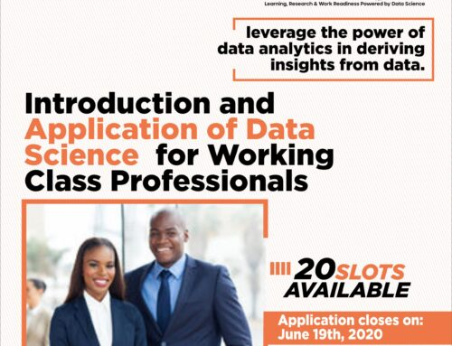 Introduction and Application of Data Science for Working Professionals